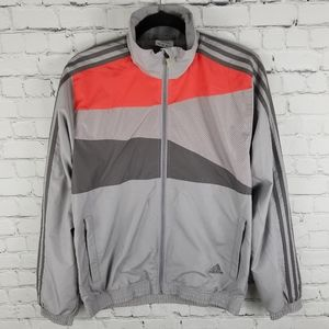 ADIDAS | full zip lined three stripe windbreaker
